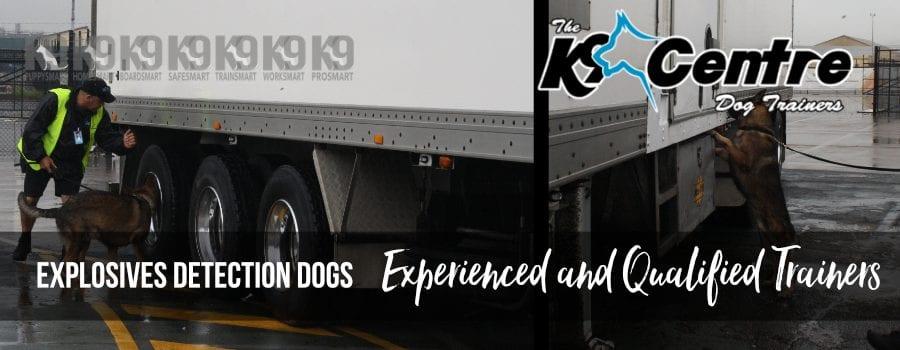Explosives Detection Dog Units and Teams dog trainer Australia