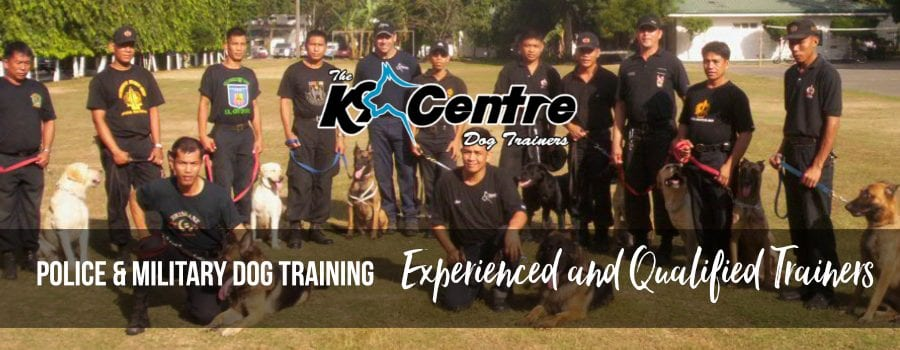 Police and Military dog training by the k9 centre dog trainer Australia