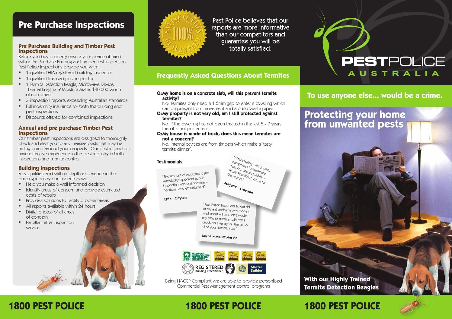 Termite Detection Dog Company dog trainer Australia