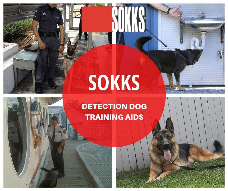 Enjoy Training with SOKKS Detection Dog Training Aids dog trainer Australia
